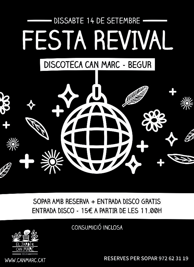 SPECIAL PARTY: REVIVAL OF CAN MARC DISCO